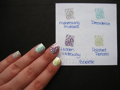 stampabilities stamping konad barielle polished princess misbehaving mistress hidden hideaway