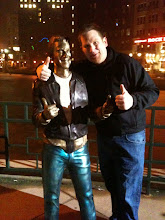 Pastor Tim and the Bronze Fonz