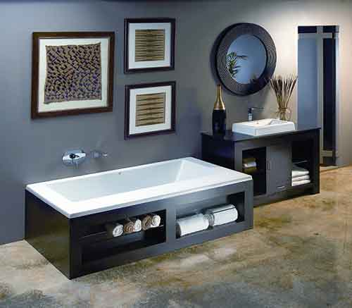 ванна, черная ванна, квадратная ванна, ванна на ножках, bathroom furniture