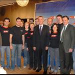 Joves Socialistes Horta Nord con el Ministro Caldera