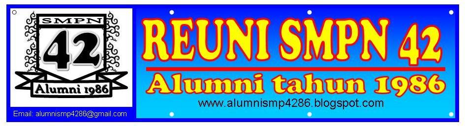 Alumni SMP Negeri 42 Jakarta: Sticker & Spanduk Alumni SMP42