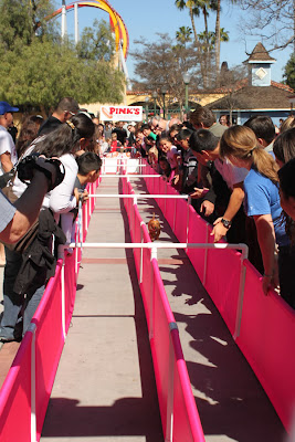 Hot dog race Pinks Buena Park