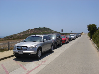 Point Dume Cliffside Drive parking area