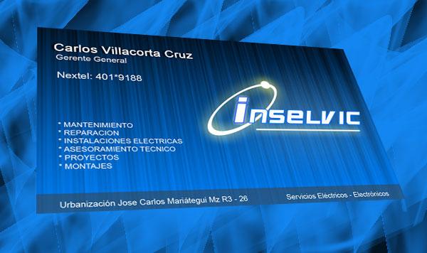Tarjeta de Presentación INSELVIC S.A.C.