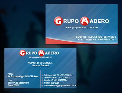 Tarjeta de presentación de Grupo Madero S.A.C.