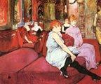 En el salón de la rue des Moulins (1894) - Henri de Toulouse-Lautrec (30)