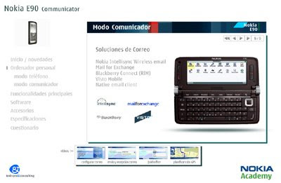e-learning Nokia E90