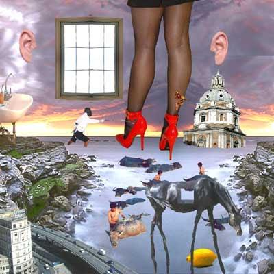 fotomontaje surreal creado por pepeworks