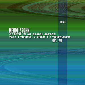 carátula del Octecto en Mi bemol Mayor de Félix Mendelssohn (por pepeworks)