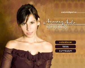 menú interactivo para dvd (videobook actriz) diseñado por pepeworks