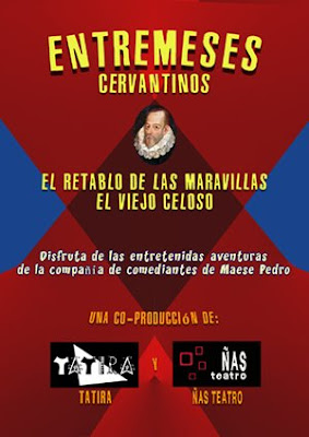 cartel Entremeses Cervantinos (teatro) - diseño de pepeworks