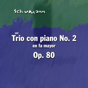 carátula Trío con piano nº 2 de Robert Schumann