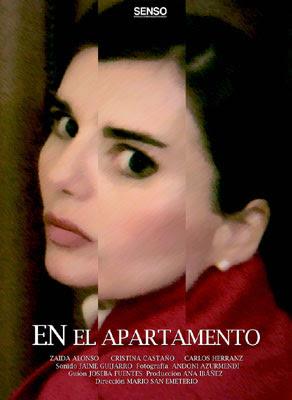 cartel del cortometraje En el apartamento (dirigido por Mario San Emeterio)