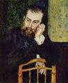 Alfred Sisley retratado por Pierre-Auguste Renoir