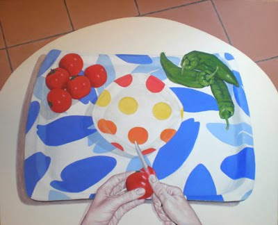 Gazpacho: obra de la pintora Eva Román (acrílico sobre lienzo)