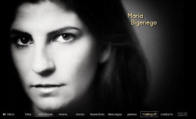 visitar web de la actriz y bailarina María Bigeriego