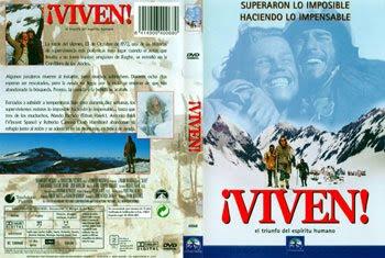 ¡Viven!: carátula de la película sobre el accidente de aviación en los Andes en 1972: HAZ click para verla más grande