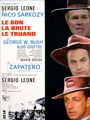 El bueno (Sarkozy), el feo (Zapatero) y el malo (Bush)