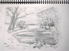 Snow, pond, trees 2
