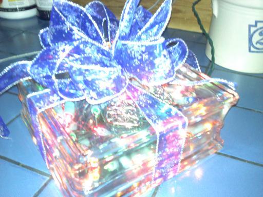19 Ideas For Christmas Decorated Glass Blocks » The Purple Pumpkin