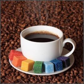 Café com letras.