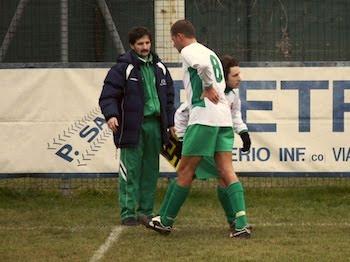 L'Airone costretto ad uscire per infortunio alla schiena.