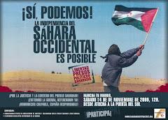Manifestación de APOYO AL PUEBLO SAHARAUI