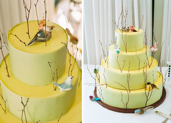 Bird and branch cake by Masse 39s Pastries found courtesy of Green Wedding