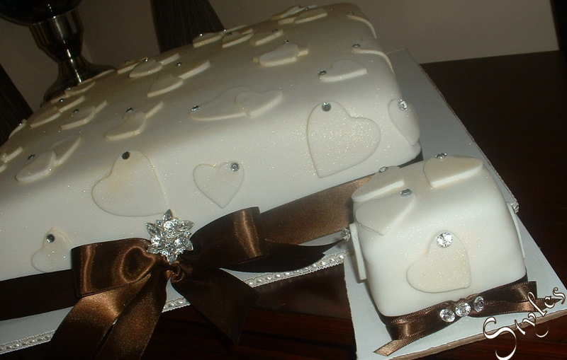 Bling Bling Hearts Wedding Cake Cake 78 Posted by Cakes by Styles at 850