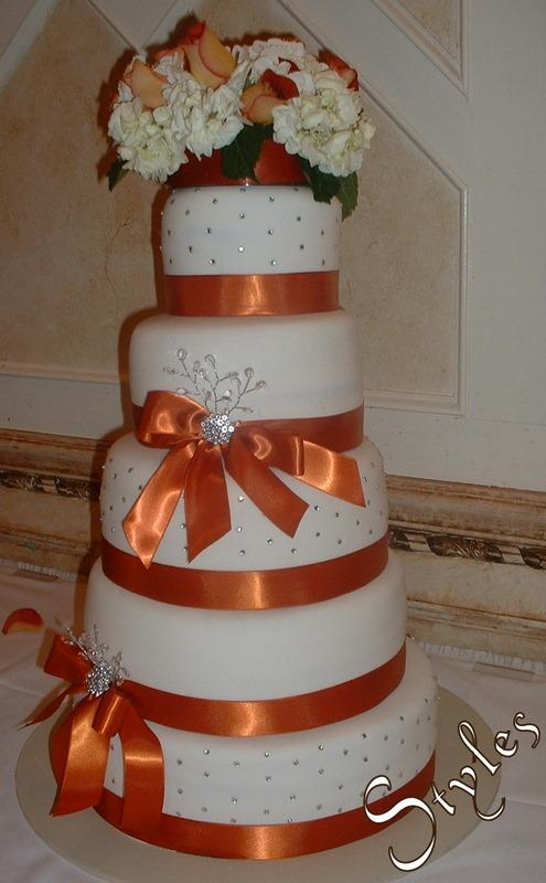 Bling Bling Cake with Fresh Flowers