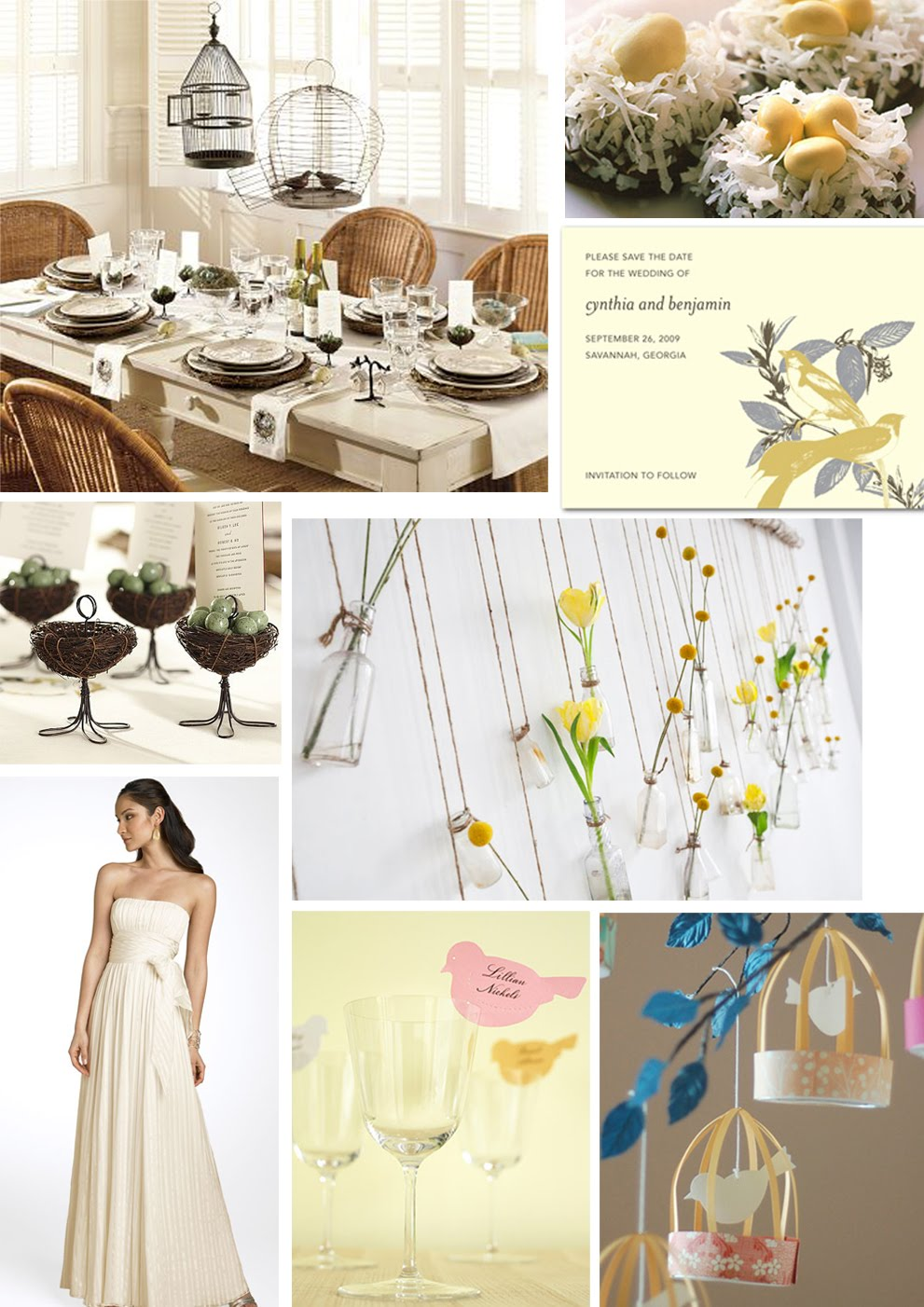 The Artful Bride Wedding Blog: Love Bird Themed Wedding Inspiration