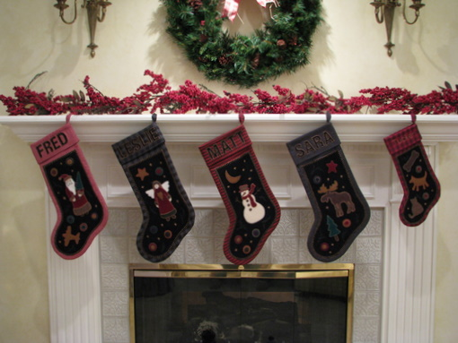 folk art christmas stockings
