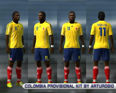 PES 2011 Colombia Kit By Arturo610