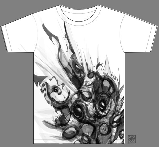 Holographic 009 t shirt doodle designs for Alchemy design t shirts
