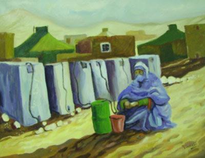Pintores saharauis exposici n de fadel jalifa en la seu d 39 urgell lleida - Pintores en lleida ...
