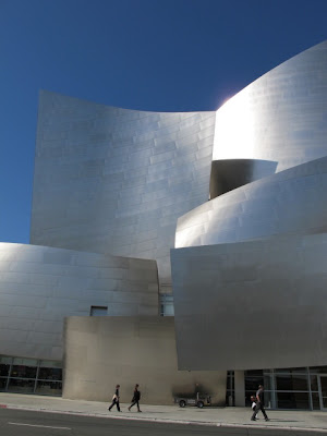 Frank Gehry Walt Disney Concert Hall in winter Los Angeles California