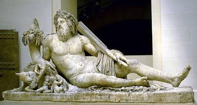 Tiber river god statue