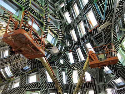 Frank Gehry Las Vegas The Cleveland Clinic Lou Ruvo Center for Brain Health interior under construction