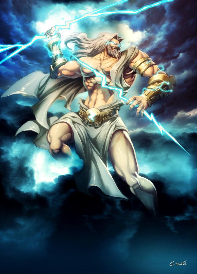 zeus greek god. Zeus was viewed as a king who