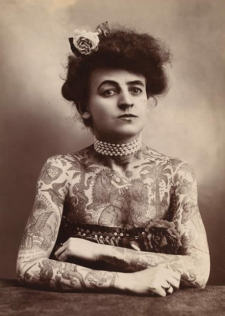 She was the first female tattoo artist to gain fame in the United States,