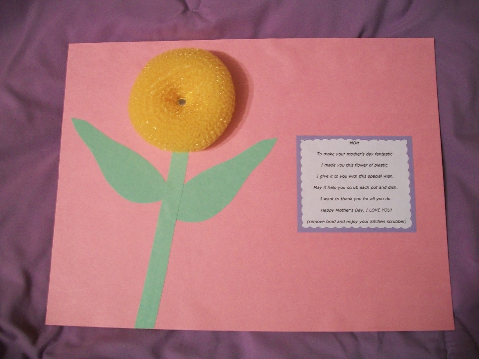 Cats kids and crafts mother 39 s day craft for Mother s day projects for preschoolers