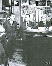 Ci-dessous, le patron du Flore... Paul Boubal (the man left in the picture)