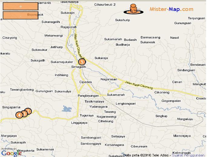 Peta Tasik Blogna Kota Tasik