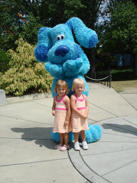 Jess n Sarah with Blue...