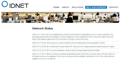 idnet downtime, BT fail