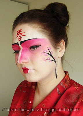 Julia Graf Japenese Cherry Blossoms Kabuki Inspired Makeup