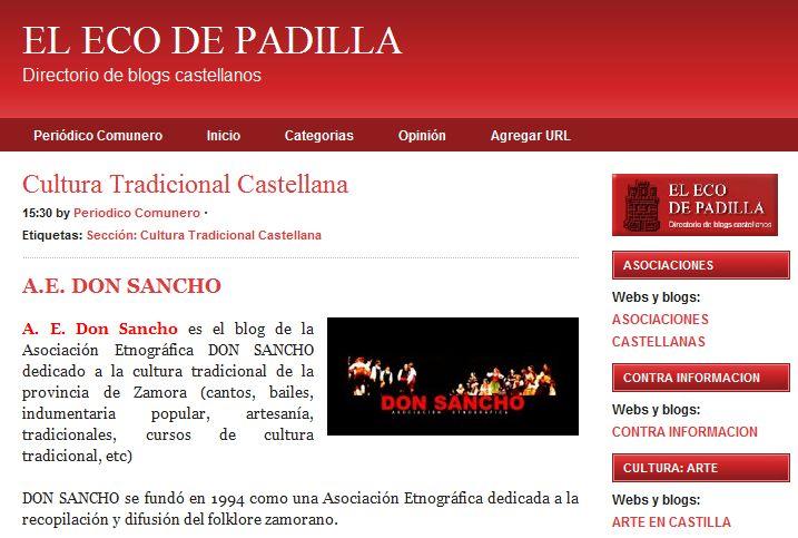 DON SANCHO. Difusión de la Cultura Tradicional de Zamora ... - photo#29