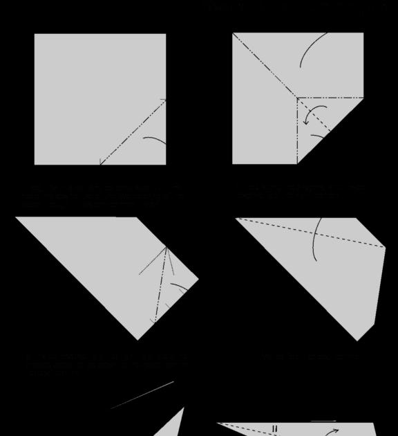 Origami Hummingbird Directions
