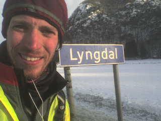Kim na cestě u Lyngdal