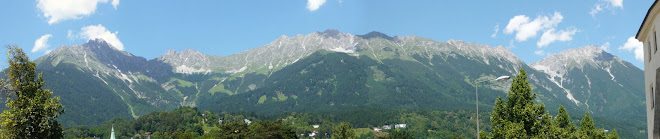 Panorama of the Alps from Innsbruck
